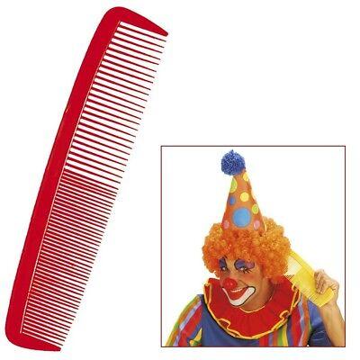 ROTER MAXI CLOWN KAMM # Karneval XXL Riesenkamm Frisör Kostüm Zubehör Deko - Rote Kostüm Zubehör