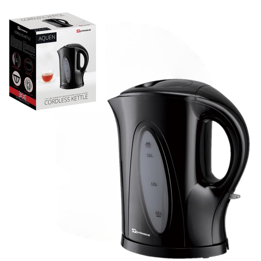 Nouveau sans Fil 1.7 L Bouilloire avec bouillir Dry Protection 2200 W-Noir
