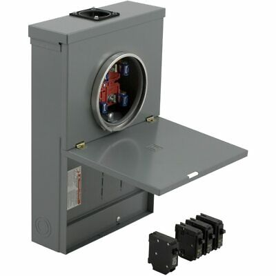 Square D 100-amp 10-spaces 20-circuit Main Breaker Meter Combo Load Center