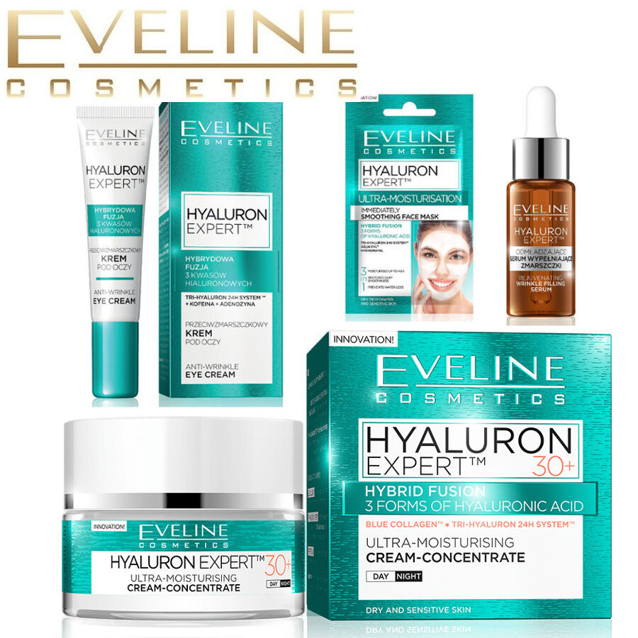 Eveline HYALURON EXPERT Anti Wrinkle Anti Ageing Face Cream 30+ 40+ 50+