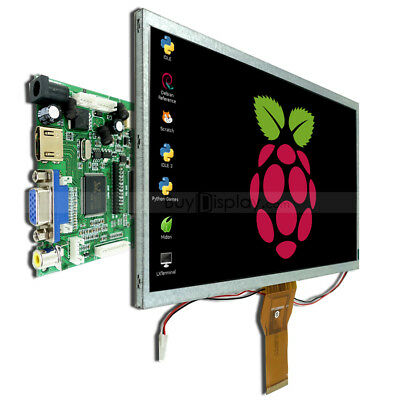 "10.1"",10"" inch TFT LCD Display w/ HDMI+VGA+Video Driver Board for Raspberry PI"
