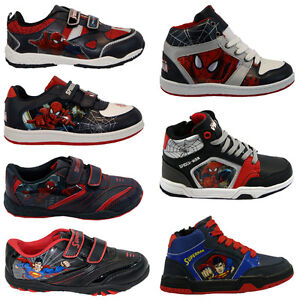 BOYS-INFANT-AMAZING-SPIDERMAN-SCHOOL-FASHION-TRAINERS-VELCRO-KIDS-SHOES-SIZE-NEW