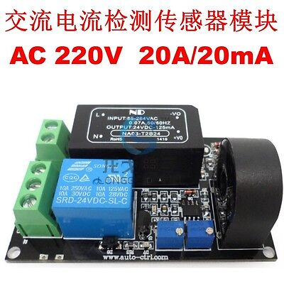 Working Ac 20a Ac Current Sensor Module Detection Module Switch Output
