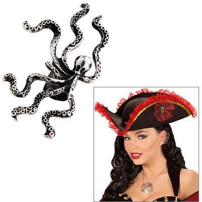 OHRCLIP KRAKE # Piraten Ohrring Freibeuter Fasching Kostüm Zubehör Schmuck 46745