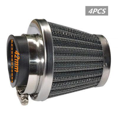 4x 42mm Universal Kegelfilter Luftfilter Air Filter Motorrad ATV Roller Go-kart