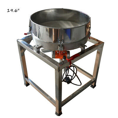 110v 19.6 Stainless Steel Powder Shaker Vibration Sieve Machine Screener