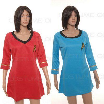 Kleid von Star Trek TOS als weiblichen Dienstuniform Halloween Karneval  ()