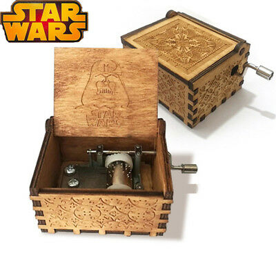 STAR WARS Music Box Engraved Wooden Music Box Crafts STAR WARS Xmas Gift