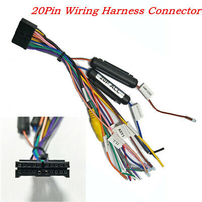Universal 20 Pin Car SUV Wiring Harness Connector For 1Din 2Din DVD Power Cable