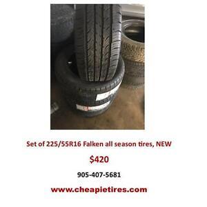 225/55R16 Falken all season tires