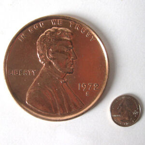 New-Jumbo-Giant-Metal-Production-Magic-Coin-Trick-US-Penny-One-Cent