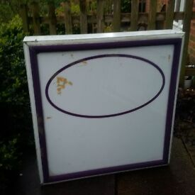 Exterior illuminated box wall sign for sale