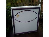 Exterior illuminated wall sign for sale