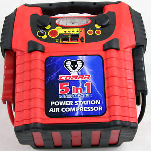 5-in-1 Portable Power Station Compressor Emergency Battery Jump Starter USB