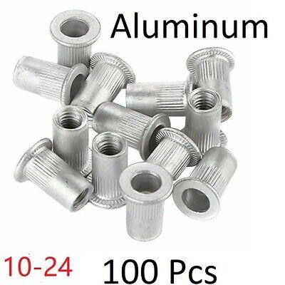100 Pcs 10-24 Aluminum Flange Nutserts Rivet Nut Rivnut Nutsert