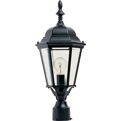 - Maxim Westlake Cast 1-Light Outdoor Pole/Post Lantern Black - 1005BK