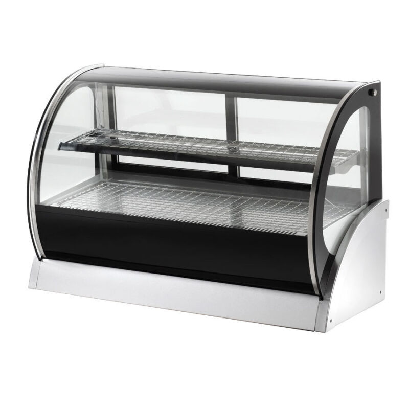 "Vollrath 40857 59"" Heated Curved Glass Deli Countertop Display Case 2 Shlvs"