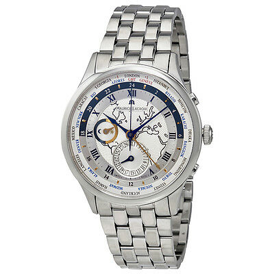 Maurice Lacroix Masterpiece Tradition Worldtimer Mens Watch MP6008-SS002-111