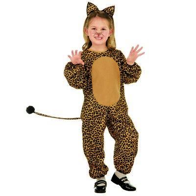LEOPARDEN KOSTÜM KINDER Karneval Fasching Tierkostüm Katze Mädchen Jungen # (Junge Katze Kostüme)