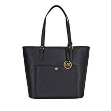 Michael Kors Jet Set Travel Large Saffiano Leather Tote - Black