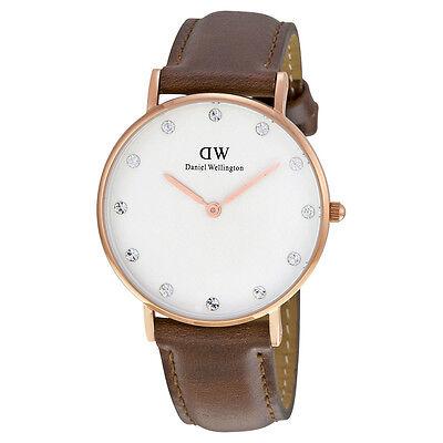 Daniel Wellington Women's Classic St. Andrew 0950DW Brown Leather Quartz Watch