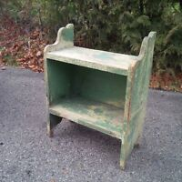 Banc de seau antique en pin