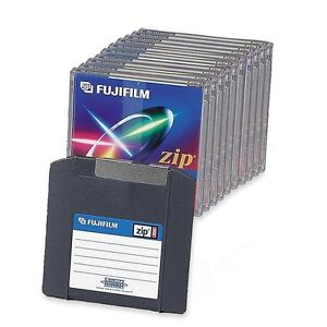 LOT OF 10 PACK BLANK FUJIFILM ZIP DISC 100MB DISK FOR IOMEGA DRIVE MAC FORMATED