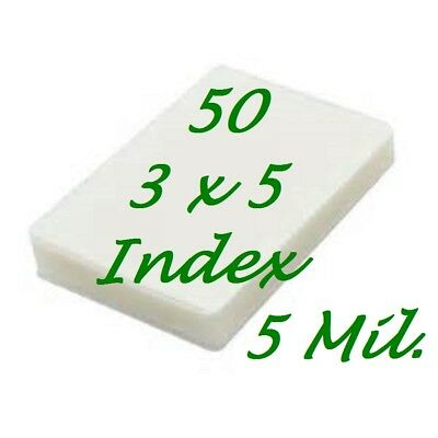 3 X 5 Laminating Laminator Pouches Sheet 5 Mil 3-12 X 5-12 50pk Scotch Quality