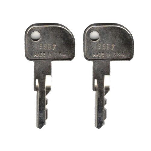 IBM 9957 Key Register - Cash Drawer Key Set - Set of 2 Replacement Keys