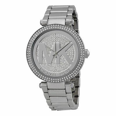 Michael Kors MK5925 Parker Oversized Glitz Silver-Tone Women's Watch