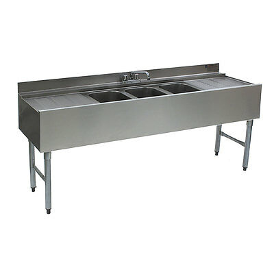 Eagle Group B6c-18-x Ss Underbar Sink Unit 3 Compartment 72in X 20in