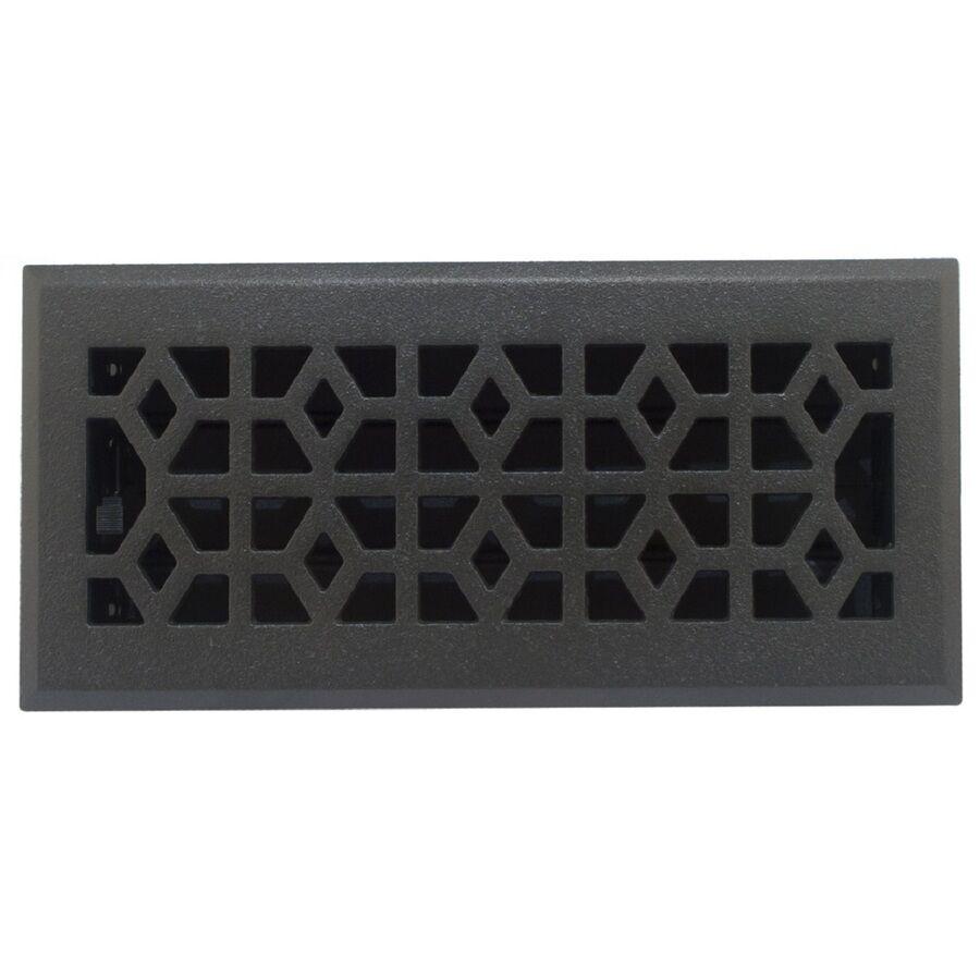 4 Amp X 10 Cast Iron Black Metal Floor Diffuser Register Vent
