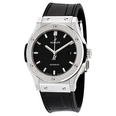 Hublot Classic Fusion Black Dial Titanium Automatic Mens Watch 542NX1171LR