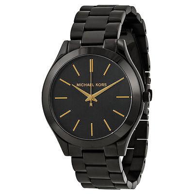 Michael Kors MK3221 Slim Runway Black Dial Black Unisex Wrist Watch FreeShipping