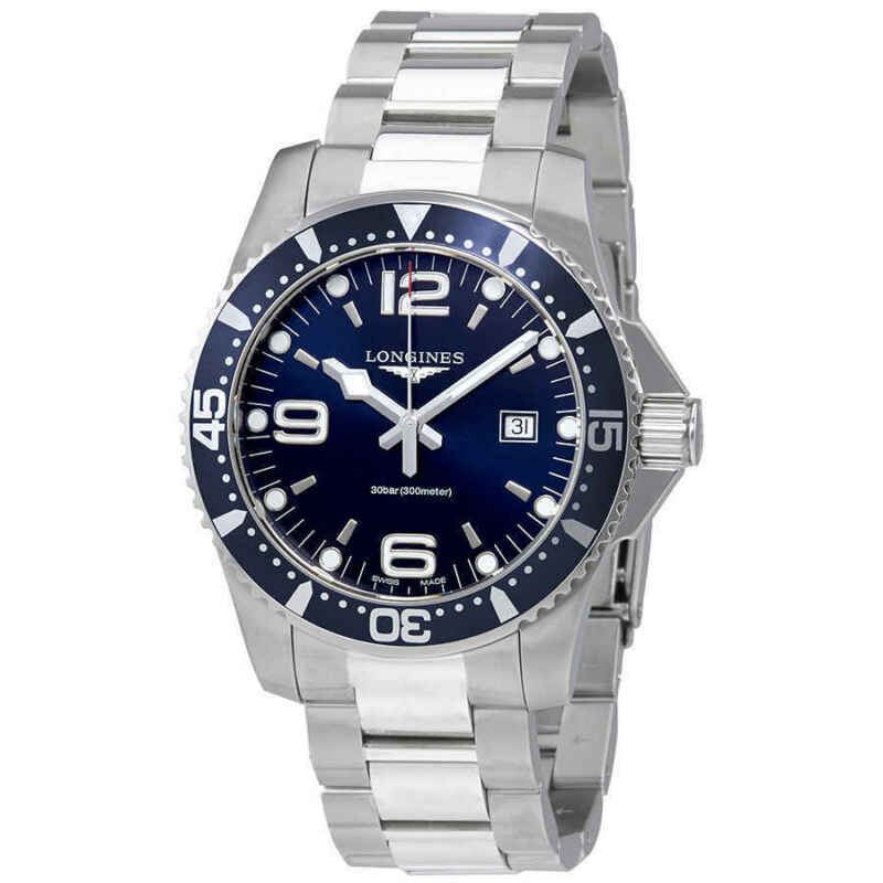 Longines HydroConquest Blue Dial Stainless Steel Men's Watch L38404966 - watch picture 1