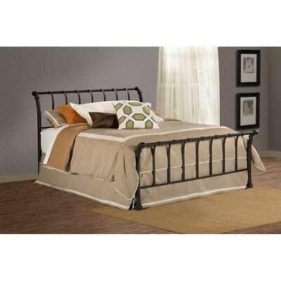 Hillsdale Furniture Janis Bed Set, Full, w/Rails, Textured Black - (Black Full Sleigh Bed)
