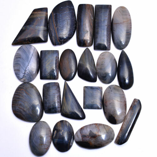 525 Cts Natural Pietersite Untreated Cabochon 20 Pcs Loose Gemstones 19mm-40mm