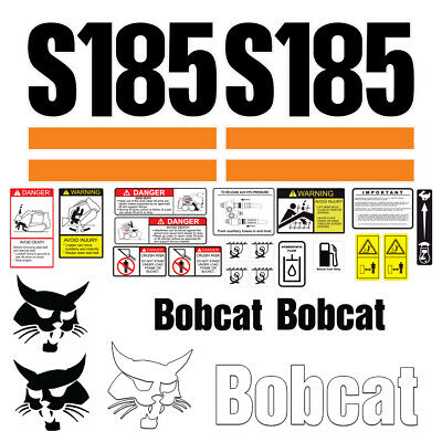 Bobcat T185 Skid Steer Set Vinyl Decal Sticker - 25 Pc - Free Shipping