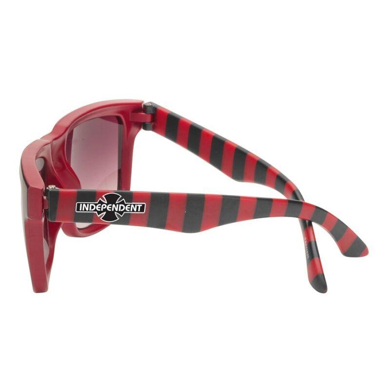 Independent Trucks STRIPES PATTERN Skateboard Sunglasses RED/BLACK STRIPES