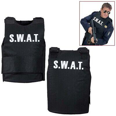 HERREN S.W.A.T. KUGELSICHERE WESTE Spezial Polizei Polizist SEK Kostüm SWAT 2856 (Swat Kostüm Herren)