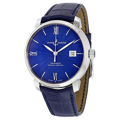 Ulysse Nardin San Marco Classico Blue Dial Automatic Mens Watch 8153-111-2-E3