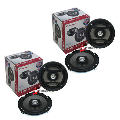 4 X Pioneer Ts F1634r 6 5  2 Way Car Audio Coaxial Speakers