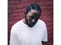 2x Kendrick Lamar & James Blake Tickets 13th Feb - Block 416 - £180 for both Tickets