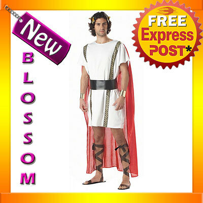 C819 Mark Anthony Costume Roman Military General Ancient Times Toga Party - Roman Times Halloween Costumes