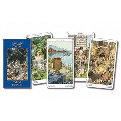 NEW Pagan Tarot MINI Deck Cards Lo Scarabeo