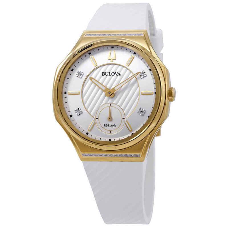 Bulova-Curv-Silver-White-Dial-Ladies-Watch-98R237