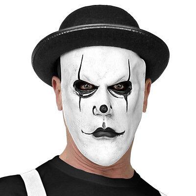 HARLEKIN MASKE & MELONE # Halloween Killer Mörder Clown Hut Kostüm Party 03294