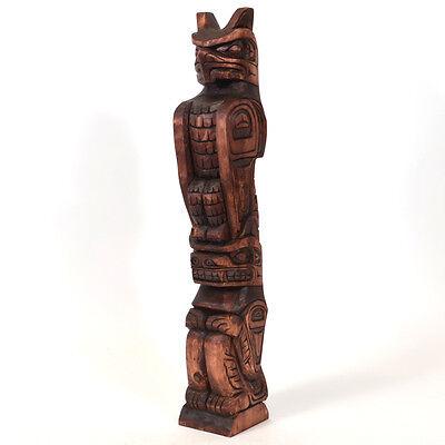 """Model Totem Pole Thunderbird and Bear 23"""" Tall"""