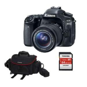 Canon EOS 80D Kit with 18-55 STM + BUNDLE