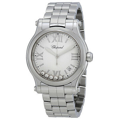 Chopard Happy Sport White Matte Dial Ladies Watch 278582-3002